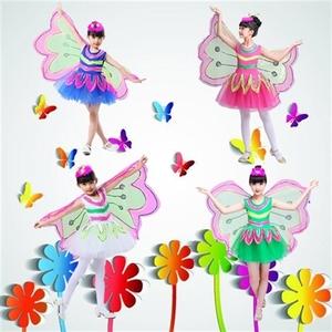 小蜜蜂蜻蜓毛毛虫蝴蝶/儿童动物卡通演出服饰/六一表演衣服连体装