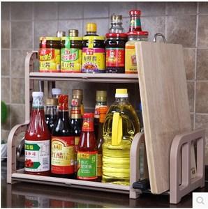 架子经济挂架调味料小形多层型百加厚打孔长方架 厨房家用免置物