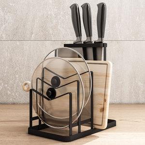 菜刀座廚房置物架落地廚具用品菜板架砧板菜刀架家用菜刀具收納架