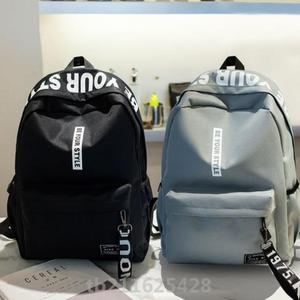 慵懶個性帆布包雙肩韓國簡約百搭ins耐用多口袋森系背著舒服新款