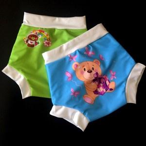 婴儿泳裤防水防漏游泳裤男女宝宝小童卡通可爱高腰护肚婴儿游泳裤