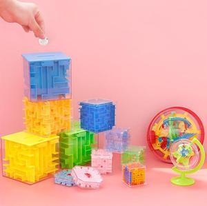 球形迷宫球 。迷宮玩具走珠平面幼儿园存钱罐3d魔方立体迷宫平衡