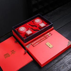 喜新婚杯子創意結婚高檔紀念禮品實用新人閨蜜雙喜碗筷送禮物套裝