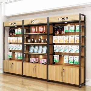 手機配件柜展示架超市便利店商品零食小食品飾品鋼木掛鉤貨柜貨架
