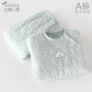 巴厘小豬寶寶棉衣冬季加厚新生嬰兒衣服1歲3冬裝兒童保暖內衣套裝