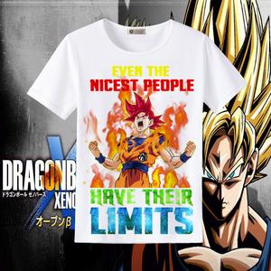 七龙珠 孙悟空 龙珠超 超级赛亚人 日本卡通短袖T恤动漫周边体恤