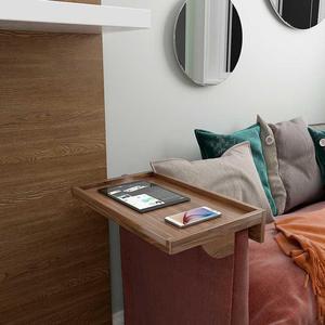 擇優家頭置物架床邊隔板床頭柜創意免打孔臥室一字隔板收納木板小