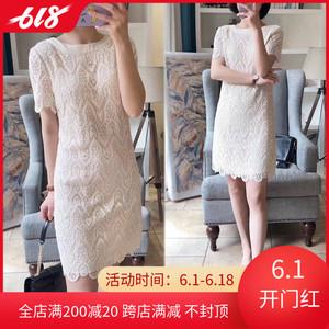 韓國2020夏季新款韓版氣質時尚名媛小清新顯瘦鏤空蕾絲連衣裙女裝