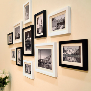 淘宝墙壁韩式风格相框壁挂照片墙十全十美欧式家居设计个性粉色家庭图片