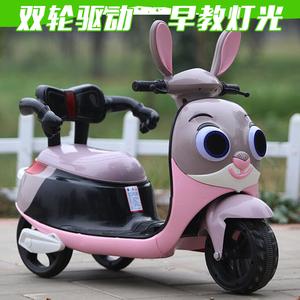 新款婴幼儿童电动车摩托车三轮车男女宝宝电瓶车可坐可骑大号童车