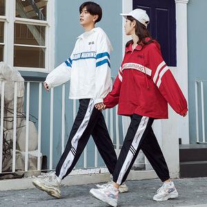 初中高中学院风毕业班服定制韩国校园学生装女宽松运动会校服套装
