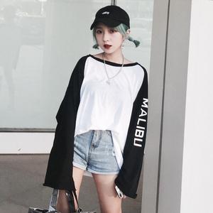 社会女衣服韩版学生bf宽松霸气个性酷酷的女装街舞中国有嘻哈衣服