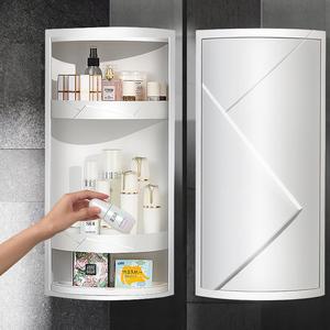 浴室旋轉置物架衛生間洗手臺三角壁掛神器廁所轉角廚房收納柜墻角