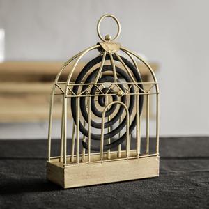 北欧创意复古铁艺蚊香盒 家用檀香架 做旧蚊香金属摆件灭蚊驱蚊架
