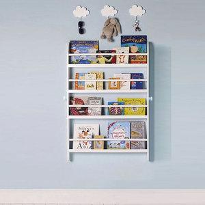 学生书架墙壁挂墙上儿童房简易儿童宝宝绘本书架薄现代简约壁挂式