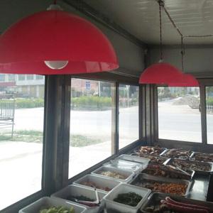 板栗餐吊燈鹵菜店肉食熟食豬肉水果燈罩超市燈生鮮蔬菜塑料紅燈罩