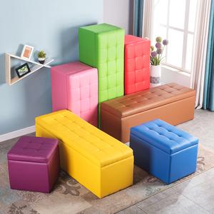 服裝店換鞋凳鞋櫃家用床尾儲物沙發凳子長方形休息鞋店長條收納凳