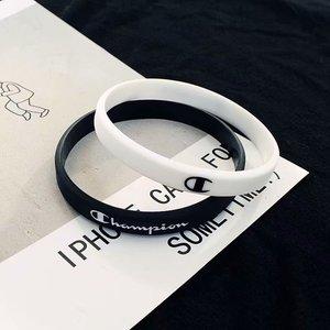 冠军手环原创欧美潮牌情侣运动健身篮球腕带学生男女创意硅胶手环