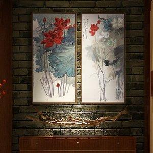 新中式客厅装饰画禅意图片