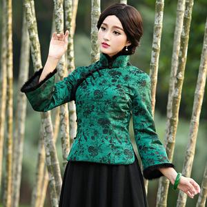 華族經典唐裝棉襖女冬裝中式改良中國風漢服加厚夾棉保暖旗袍上衣