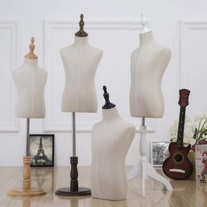 儿童装模特道具半身包布小孩模特摄影展示衣架橱窗带手实木假人台