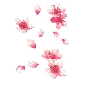喵小姐樱花纹身贴防水仙女持久性感桃花花朵古风清新艺妓锁骨