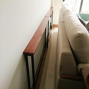 客廳沙發後置物架靠牆落地實木床頭收納書架子櫃定制玄關架長條窄