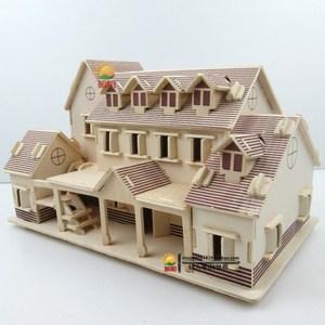 手工男童大型别墅模型日式房屋建筑小男孩小木屋diy小型个性小