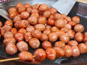 台湾一口肠粒粒肠烤肠小香肠纯肉烧烤小吃  一包5斤装商用批發
