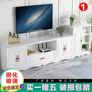 电视柜现代简约小户型客厅边柜组合欧式钢化玻璃地柜卧室电视机柜