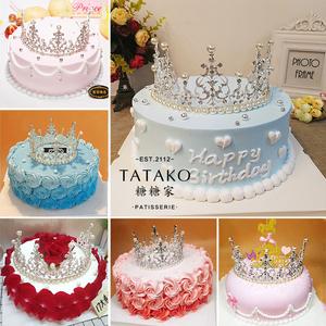 生日蛋糕苏州同城速递送女朋友老婆闺蜜皇冠蛋糕女王公主款昆山图片
