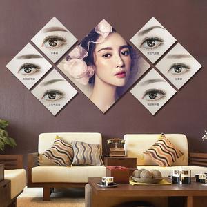 半永久挂画眉眼唇纹绣店眉毛美容院装饰广告背景墙壁图片海报宣传