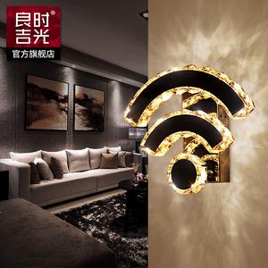 水晶壁灯 led客厅墙壁灯饰创意wifi造型走廊过道卧室床头壁灯灯饰图片