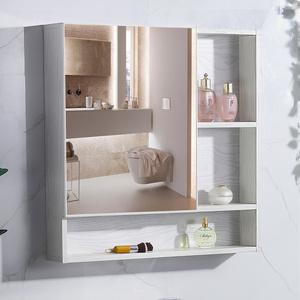 鋁合金浴室鏡柜單獨防水掛墻式廁所衛生間鏡箱子帶置物架梳妝收納