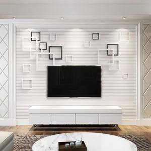 北欧电视背景墙壁纸简约现代客厅卧室装饰高档壁画8d无缝影视墙布