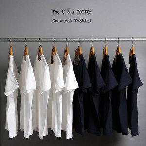 日本纯棉纯色短袖打底衫T恤白色男女体恤纯黑内搭衣服情侣上衣t桖