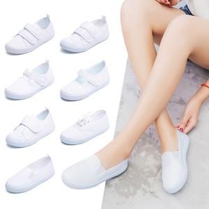 儿童白布鞋男童女童小白鞋女童舞蹈运动球鞋幼儿园小学生白帆布鞋