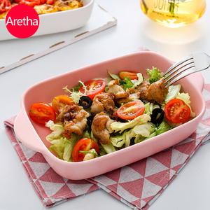 阿石 陶瓷烤盘长方形烤箱创意芝士焗饭盘西餐家用菜盘子餐具套装