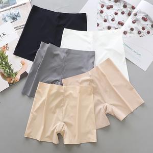 安全褲女夏冰絲無痕防走光三分短款內褲可外穿保險打底褲白色薄款