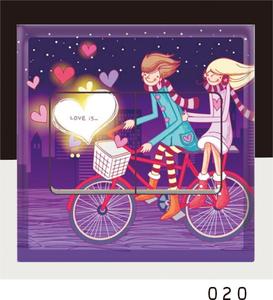 现代情侣装饰DIY浪漫情侣彩色开关贴/插座贴/创意墙贴纸