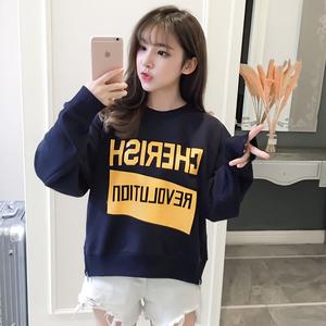 初秋卫衣女2019新款初中高中学生薄款套头上衣韩版学院风百搭T恤