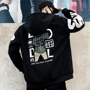 外套男春秋季2021新款韩版潮流帅气宽松青少年牛仔夹克男装上衣服