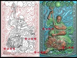 地藏王精雕图46牌子玉雕挂件JDP?#21494;?#22270;BMP木雕浮雕图电脑雕刻f61