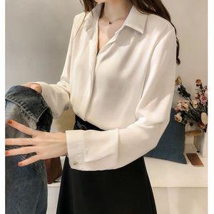 衬衫女长袖衬衣宽松上衣大码女装胖MM职业OL上班族白领办公室衣服