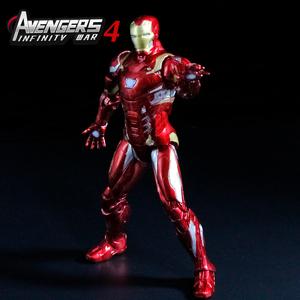 正版漫威復仇者聯盟4鋼鐵俠人偶手辦模型男孩機器人玩具周邊擺件