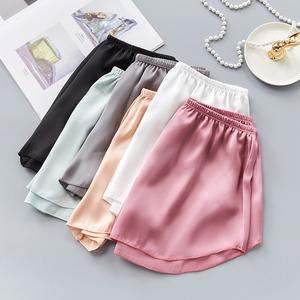 安全褲防走光女夏胖mm寬松大碼可外穿薄款三分打底褲冰絲保險短褲