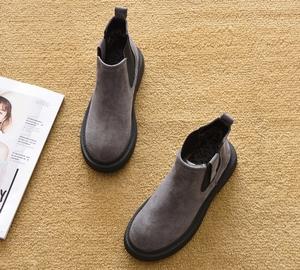 2019新款春秋平跟短靴平底馬丁靴單靴雪地靴踝靴短筒厚底鞋女靴子