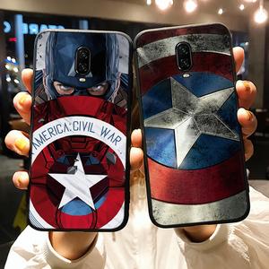 美國隊長一加6T手機殼盾牌漫威創意男款新歐美一加5硅膠軟六潮1+5T磨砂全包個性女1+6超薄防摔蜘蛛俠五限量版