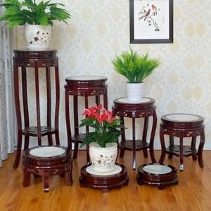 花架实木客厅中式单个置物落地室内鱼缸放盆景的小架子家用木质矮