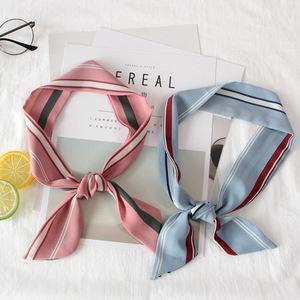 【b站小仙女同款】领巾丝带发带小清新日系丝巾绑带包包手柄系带
